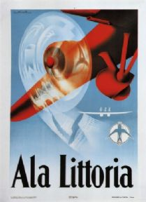 Vintage Travel Poster Ala Littoria